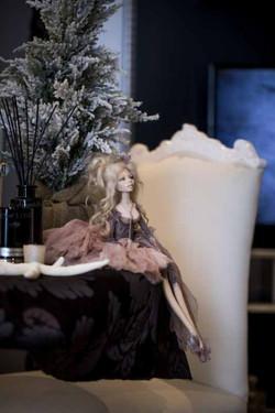 кукла ОЛана Полимерная глина, шёлк, шерсть 2018 г (8)