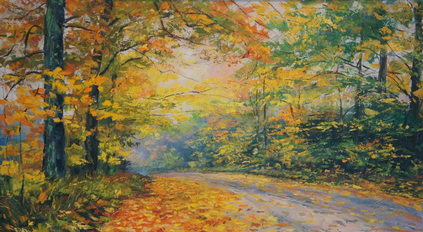 Дорога  в лес 108х60 х.м. 2016