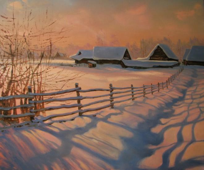 Тени на снегу х.м. 85х110