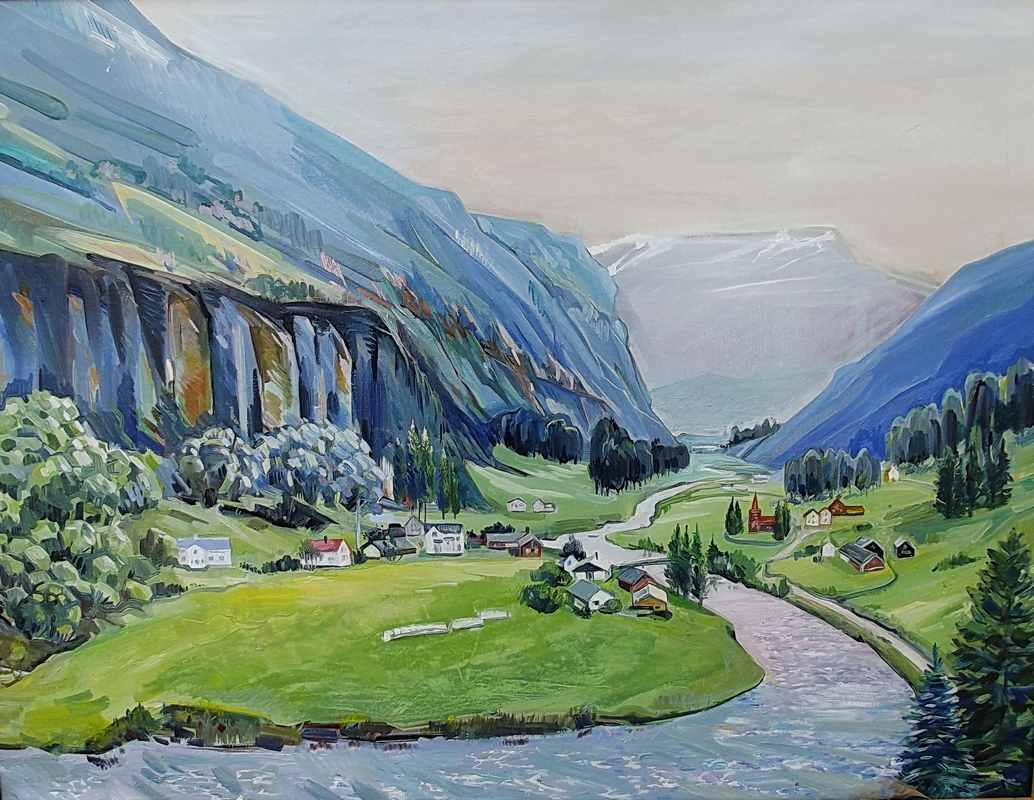 Пейзажи Норвегии хм   65х75
