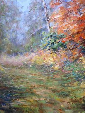 Осенняя заросшая тропа хм 45×60.jpg