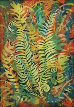 Цветок папоротник (батик)50х70