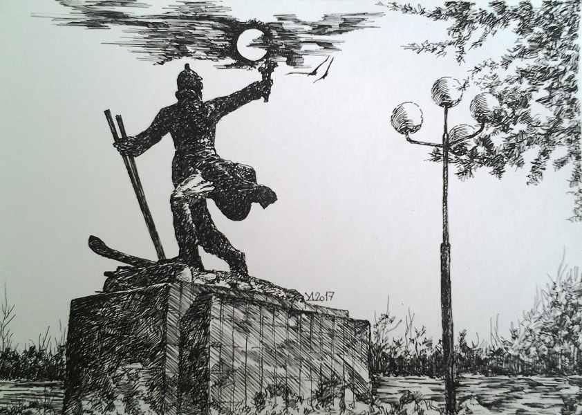 Памятник стороителям первопроходцам 2017