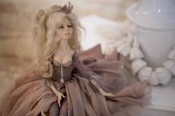 кукла ОЛана Полимерная глина, шёлк, шерсть 2018 г (1)