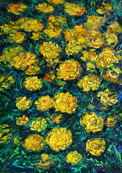 Желтые цветы 50х75 х.м. 2013