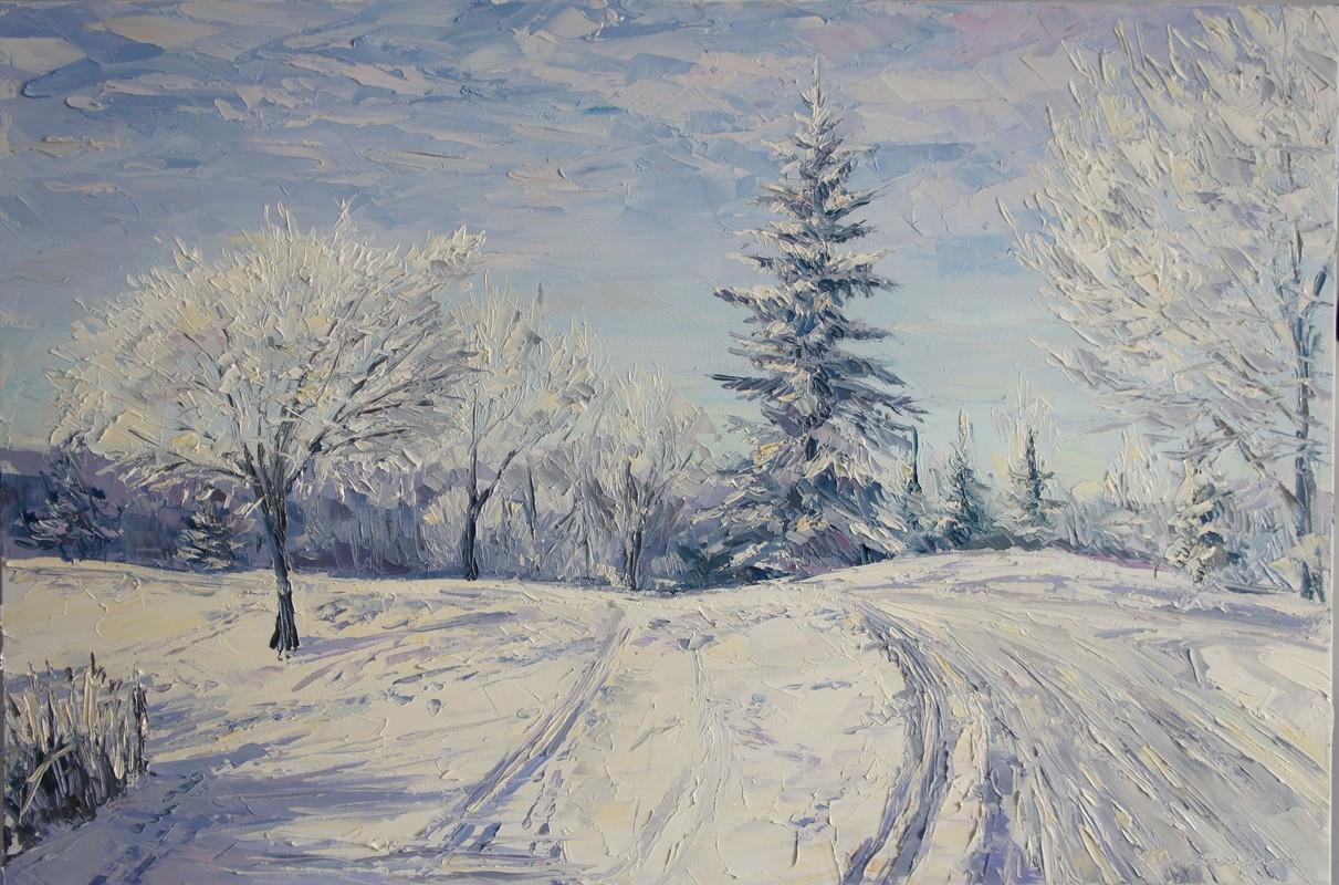 Зимняя дорога. 60х90 холст. масло 2013
