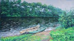 Река Манома. 70х126. х.м. 2016