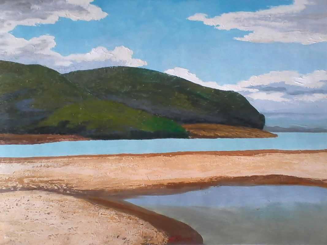 Берег на острове х.м. 50х70