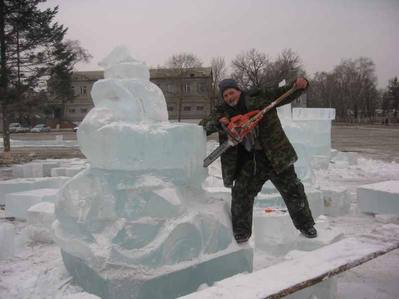 Ледовые скульптуры разных лет (7)