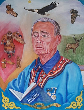 «Писатель К.М. Бельды  61х46. х.,м.