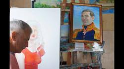 Работа над портретами Царских особ Шмако