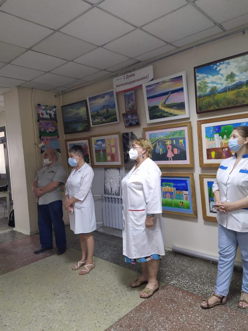 Выставка в больнице