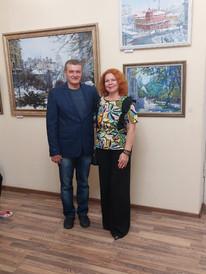 На выставке  Павленкович Андрея