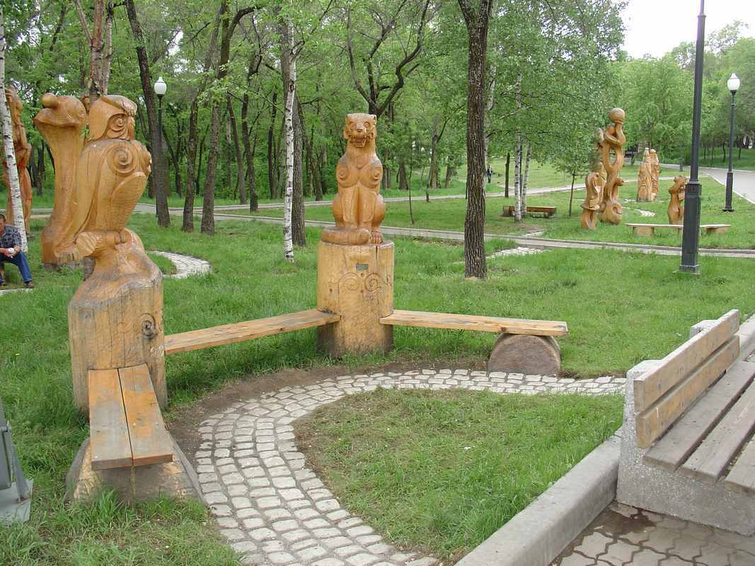 1 конкурс деревянных скульптур Хабаровск парк Динамо