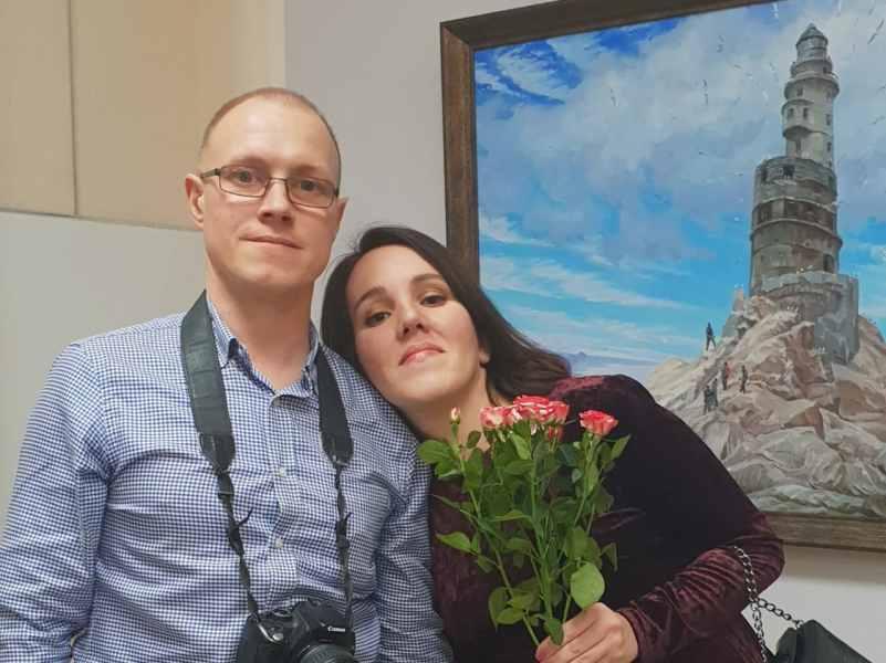 открытие персоональной выставки Людмилы