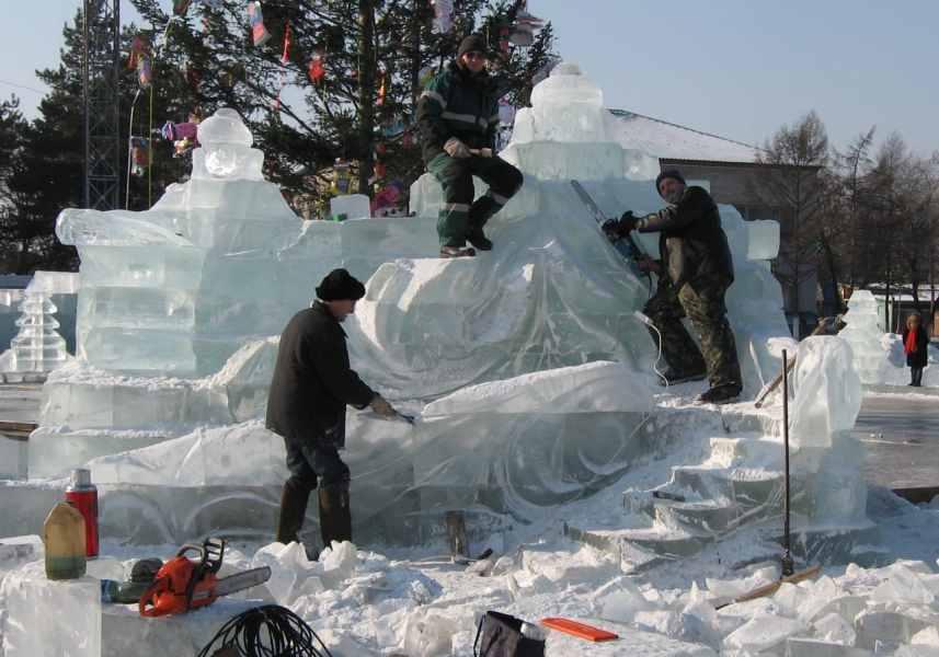 Ледовые скульптуры разных лет (9)