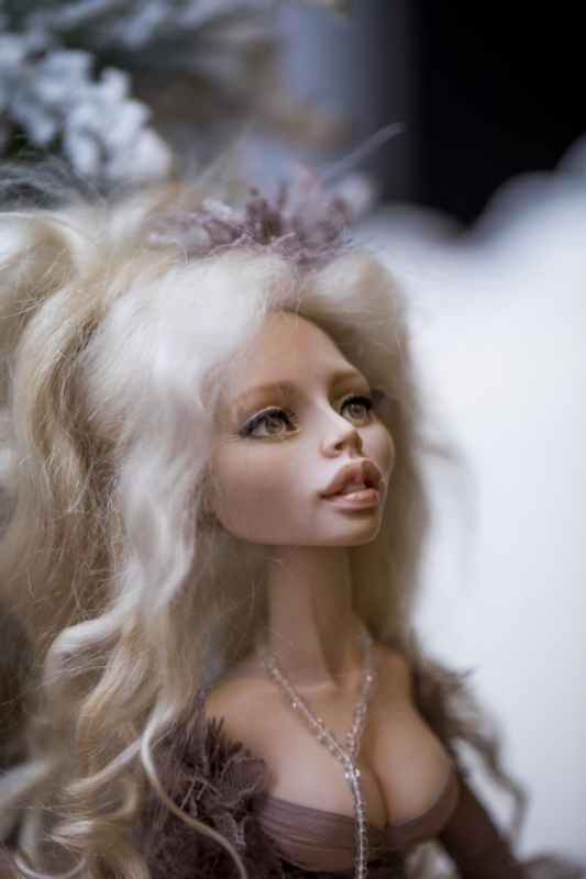 кукла ОЛана Полимерная глина, шёлк, шерсть 2018 г (9)