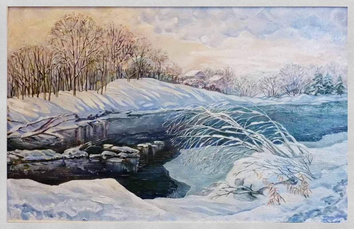 Начало зимы   2013 хм 105х80