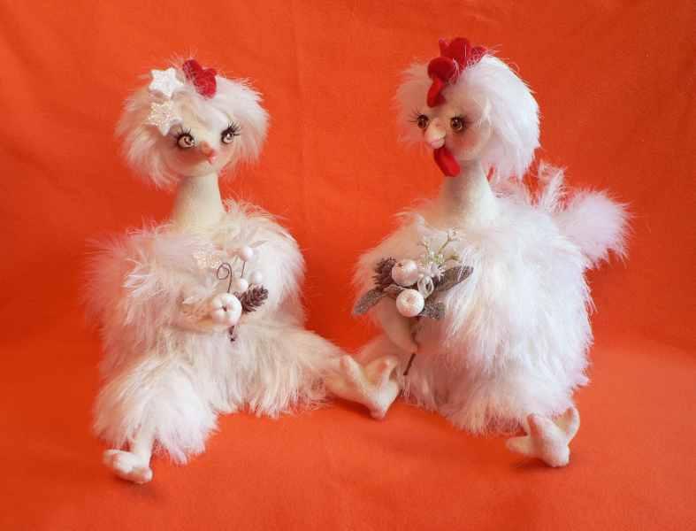 Петушок и Курочка. Вязание.