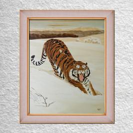 "Гинчук В. ""Тигр на снегу"" 60х50"