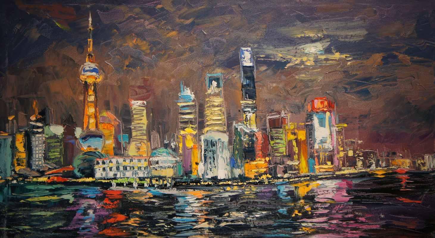 Вечерний Шанхай х.м 2016
