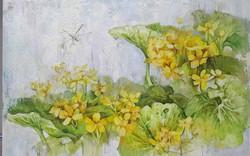 Сахалинские первоцветы 70х100 акрил