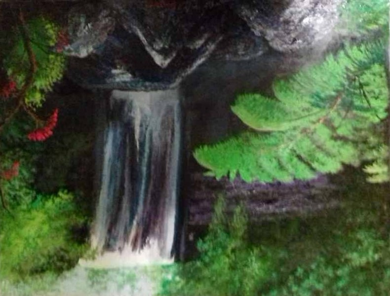 Водопад в тропиках 70х90 хм