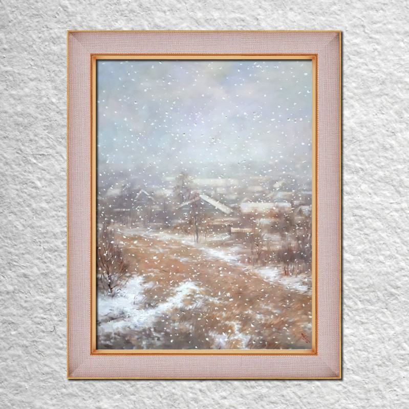 Леонид Савченко Снегопад. Вид из окна 20