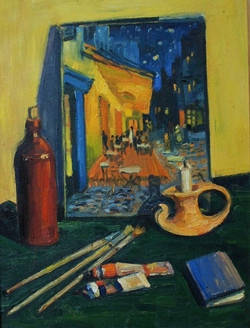 Натюрморт Ван Гога . 50х70 2004
