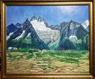 Домбай. Вид на зуб Суфруджу и гору Белал