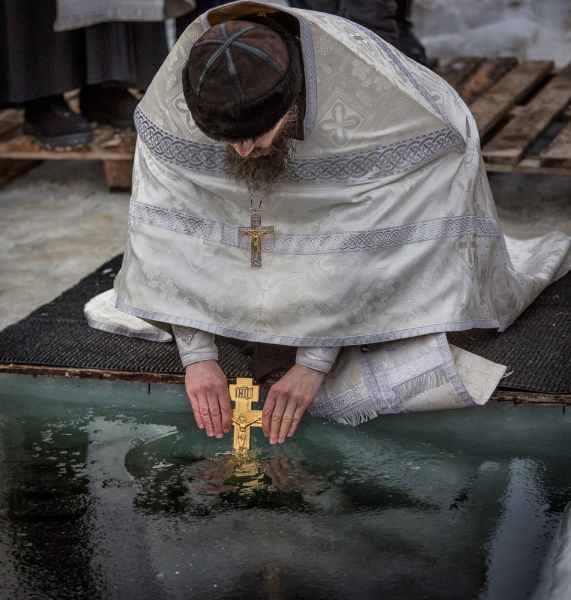 На Крещении