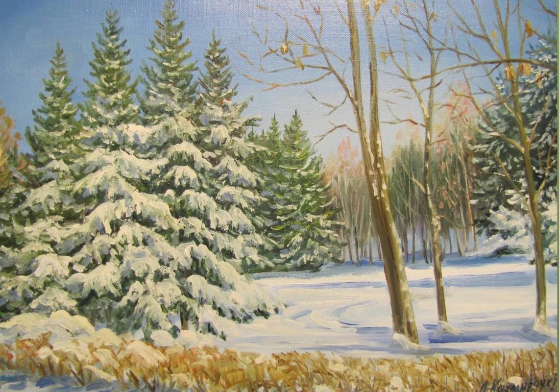 Зимний парк 40х30 х.м.