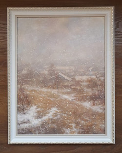 Снегопад. Вид из окна