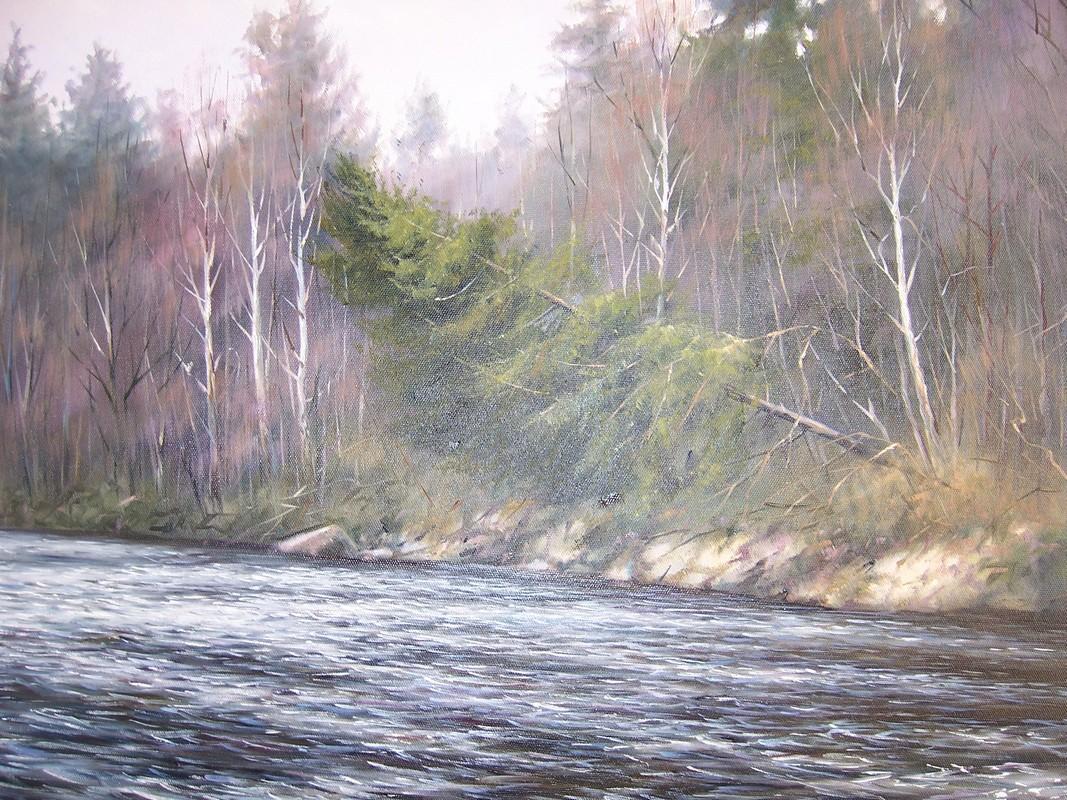 Таежная река х.м. 70х50