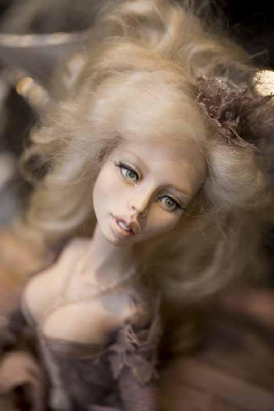 кукла ОЛана Полимерная глина, шёлк, шерсть 2018 г (11)