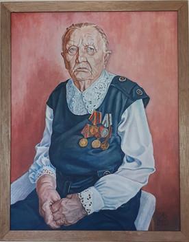 Ветеран войны  (портрет В.Я. Сыпаловой)
