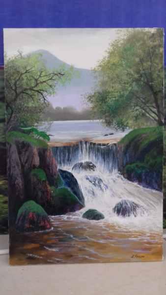 Водопад в тропиках 80х60 х.м.