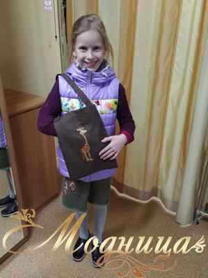 Детская сумочка с вышивкой