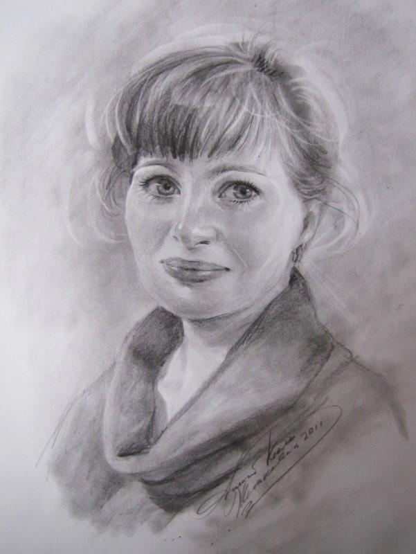 Женский портрет 40х30