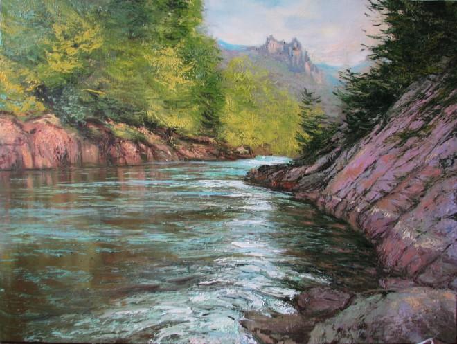 Река течёт х.м. 60х80