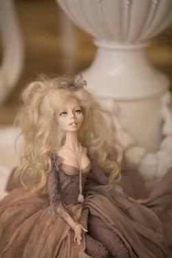 кукла ОЛана Полимерная глина, шёлк, шерсть 2018 г (4)