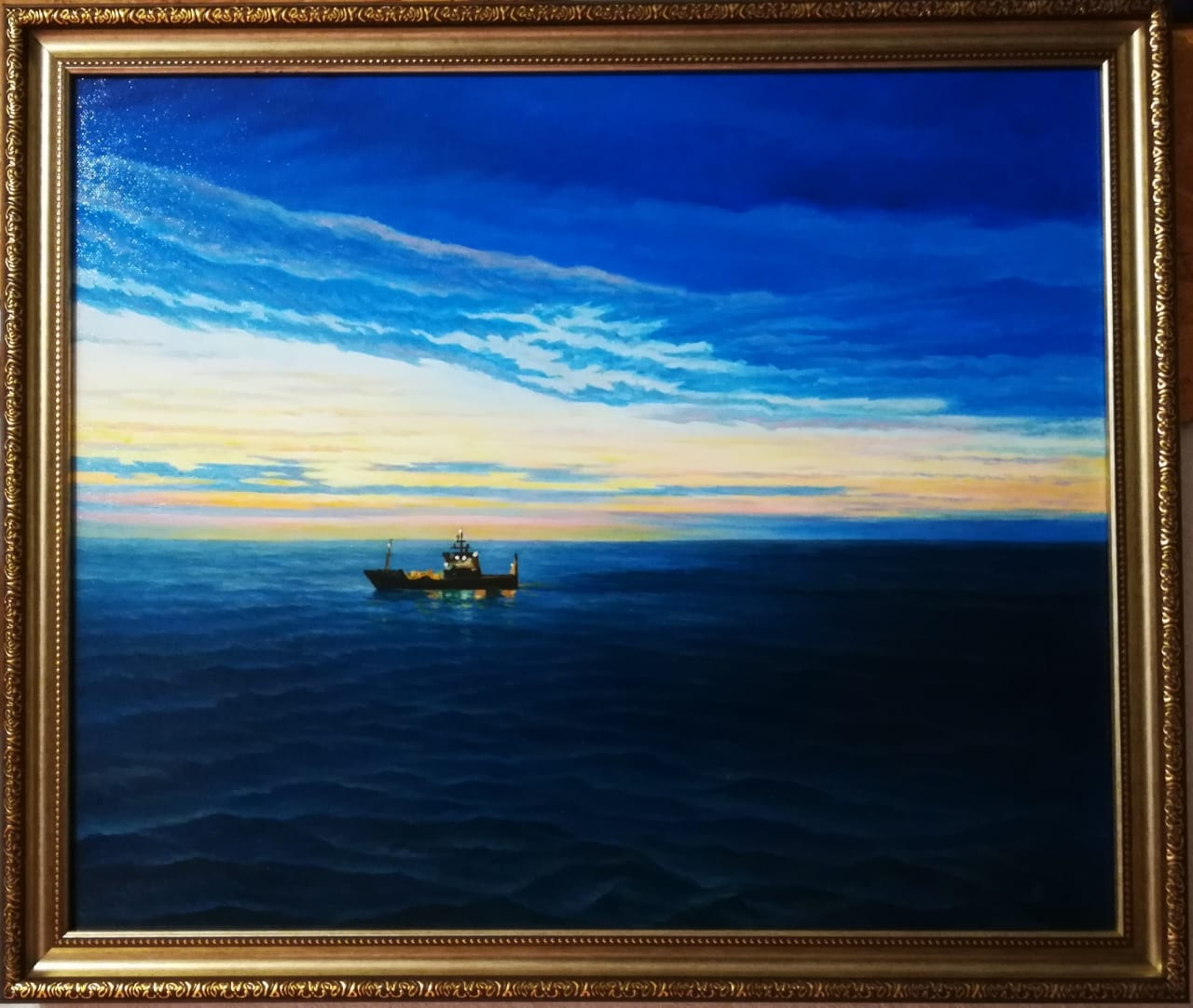 Восход над Тихим океаном 50х60 х.м.