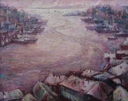 Бухта Золотой рог.( х.м.) 2009г, 84х67