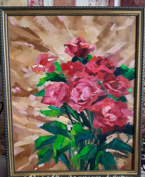 Утренние розы 50х40 х.м.