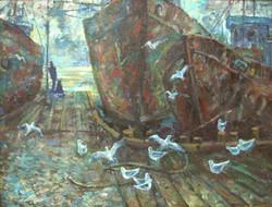 Старый порт. (х.м.) 2005 г. 80х105