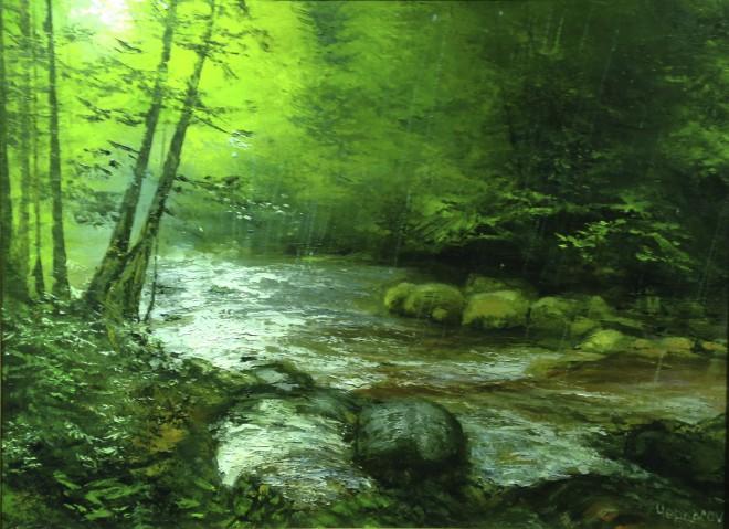 Дождь на Тигровом ручье х.м. 60х80
