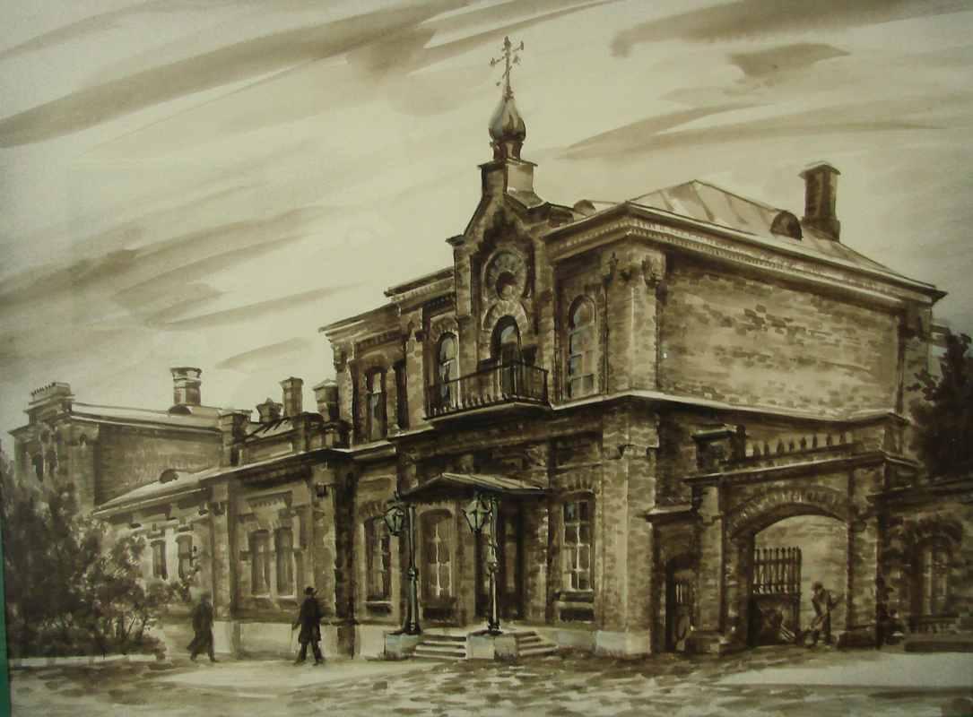 Дом Генерал-Губернатора (0,40х0,30) акварель