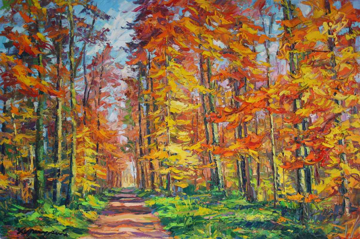 Осенний лес. 80х120. х.м. 2016