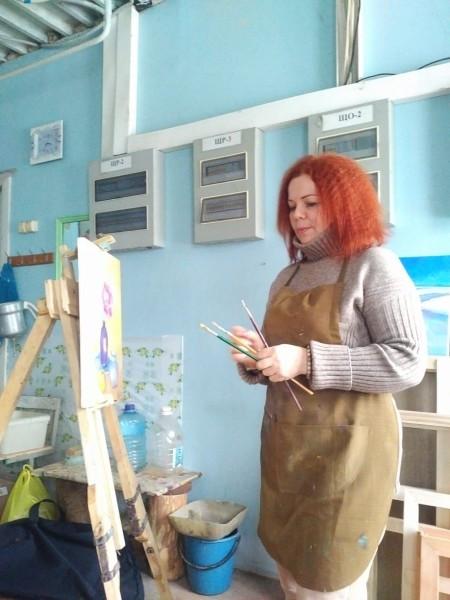 Работа в мастерской Лиханова И.