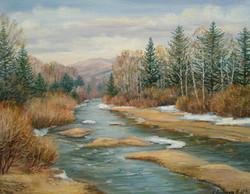 Таёжная река 60х50 х.м.